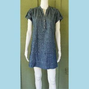 7 FOR ALL MANKIND Blue Denim Mini Dress Small S